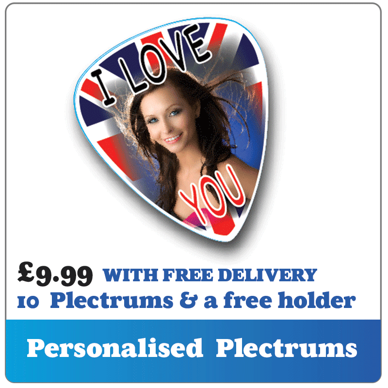 Personalised plectrums and and guitar picks