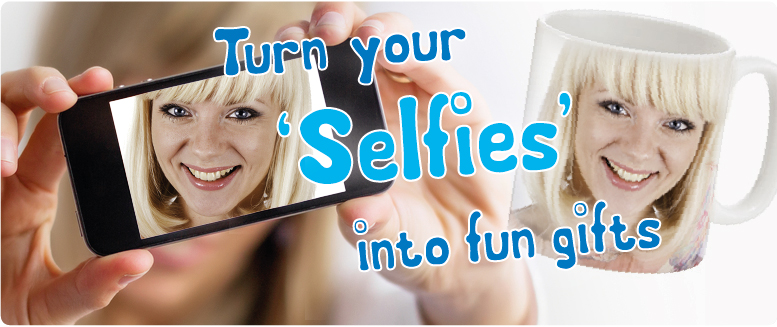Personalised gifts from your selfies